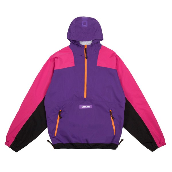 Dime Pullover Hooded Shell Jacket (Purple)