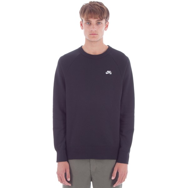 Nike SB Icon Crew Neck Sweatshirt (Black/White)