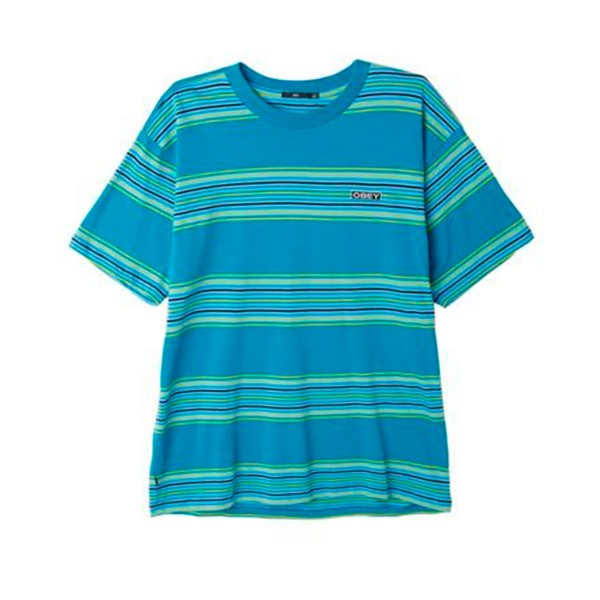 Obey Route Classic T-Shirt (Pure Teal Multi)