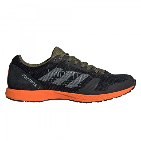 adidas by UNDEFEATED Adizero RC UNDFTD (Black-White/Light Grey Heather/Orange)