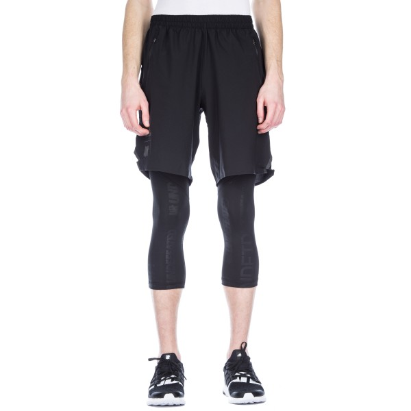 adidas by UNDEFEATED Alphaskin 3/4 Length Running Tights (Black)