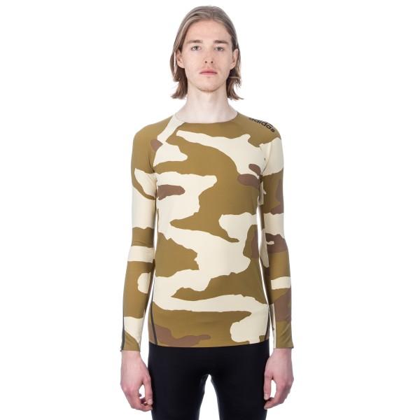 adidas by UNDEFEATED Alphaskin 360 Long Sleeve Compression T-Shirt (Dune/Tactile Khaki/Base Khaki)