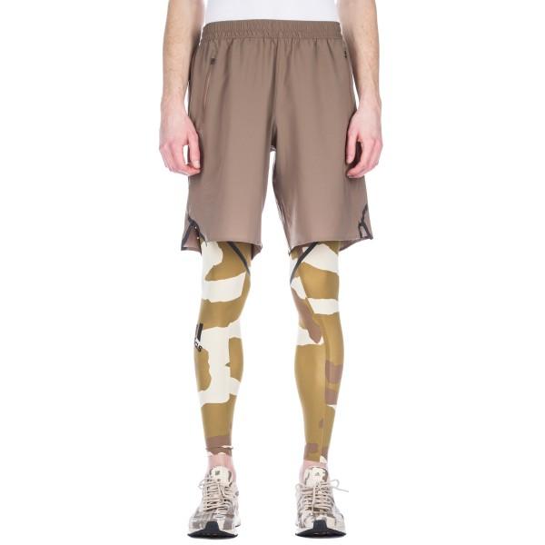 adidas by UNDEFEATED Alphaskin 360 Running Tights (Dune/Tactile Khaki/Base Khaki)