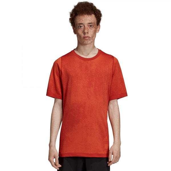 adidas by UNDEFEATED Knit T-Shirt (Orange/Tribe Orange)