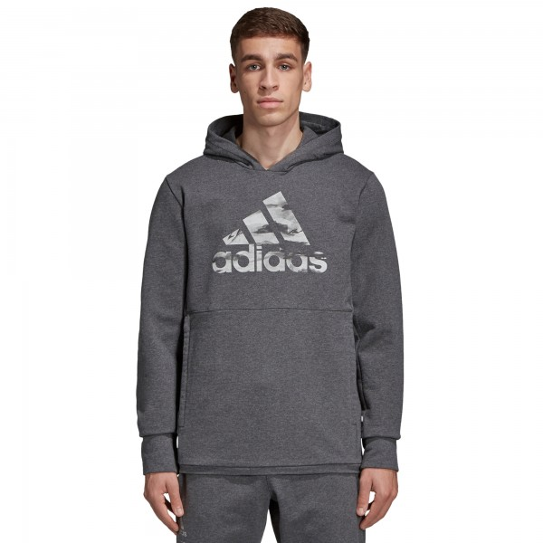 adidas by UNDEFEATED Tech Pullover Hooded Sweatshirt (Dark Grey Heather)