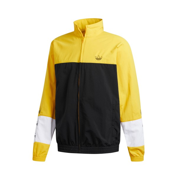 adidas Originals Blocked Warm Up Track Jacket (Black/Bold Gold)