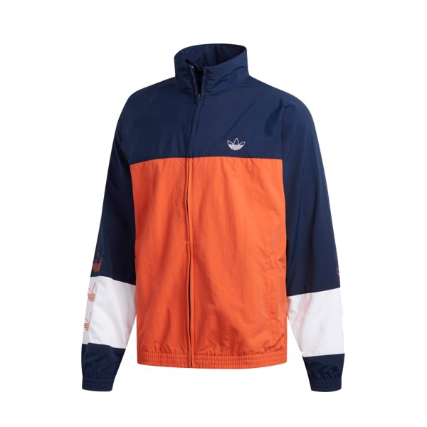 adidas Originals Blocked Warm Up Track Jacket (Raw Amber/Collegiate Navy)