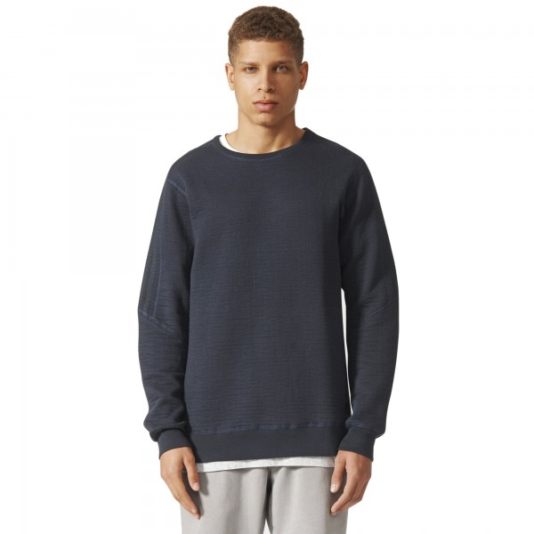 adidas Originals by wings + horns Cabin Fleece Crew Neck Sweatshirt (Night Grey)