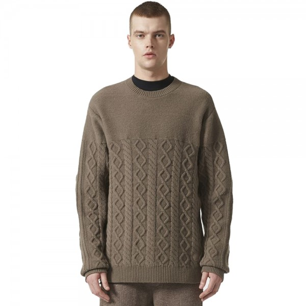 adidas Originals by wings+horns Felted Crew Neck Jumper (Simple Brown)