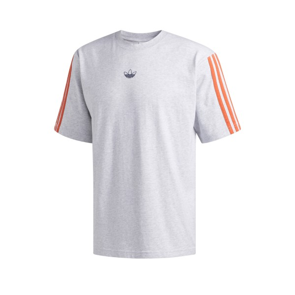 adidas Originals Off Court Trefoil T-Shirt (Medium Grey Heather/Raw Amber)
