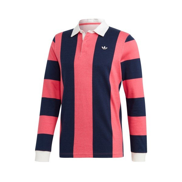 adidas Originals Rugby Shirt (Night Indigo/Real Pink)