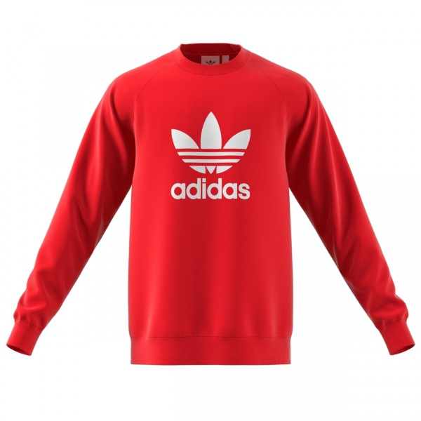 adidas Originals Trefoil Warm-Up Sweatshirt (Collegiate Red)
