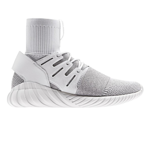 adidas Originals Tubular Doom Primeknit (Footwear White/Footwear White/Clear Grey)