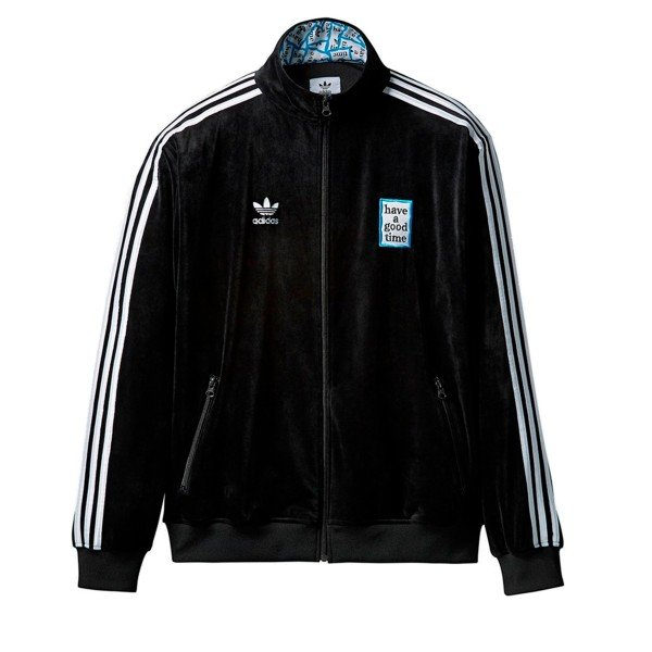 adidas Originals x have a good time Velour Track Top (Black)