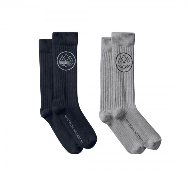adidas Originals x SPEZIAL Mod Trefoil Crew Sock (Night Navy/Medium Grey Heather)