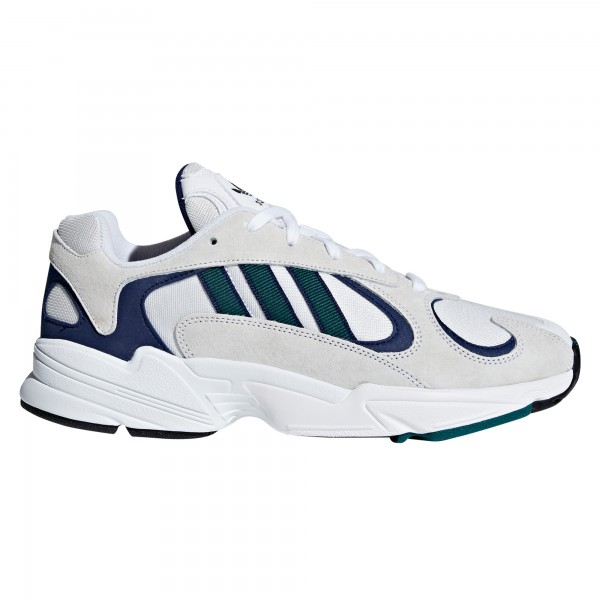 adidas Originals Yung-1 (Footwear White/Noble Green/Dark Blue)