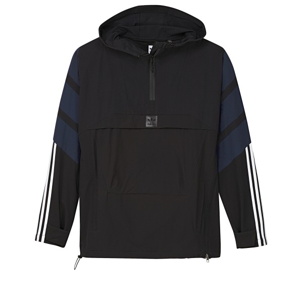 adidas Skateboarding 3-Stripes Jacket (Black/Collegiate Navy/Carbon)