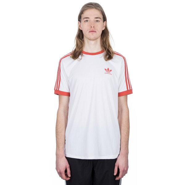adidas Skateboarding Clima Club Jersey (White/Trace Scarlet)