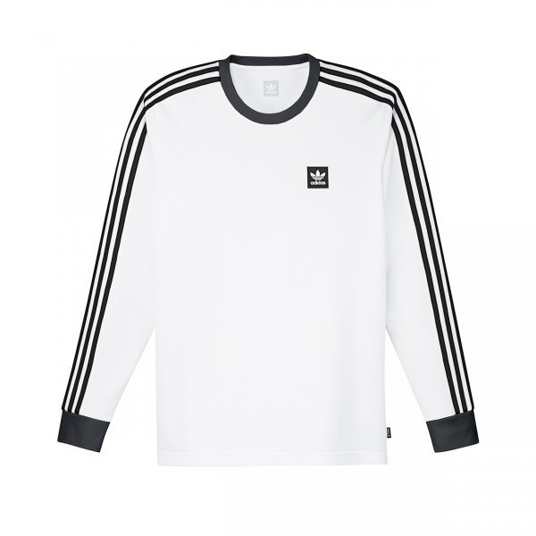 adidas Skateboarding Club Long Sleeve Jersey (White/Black)