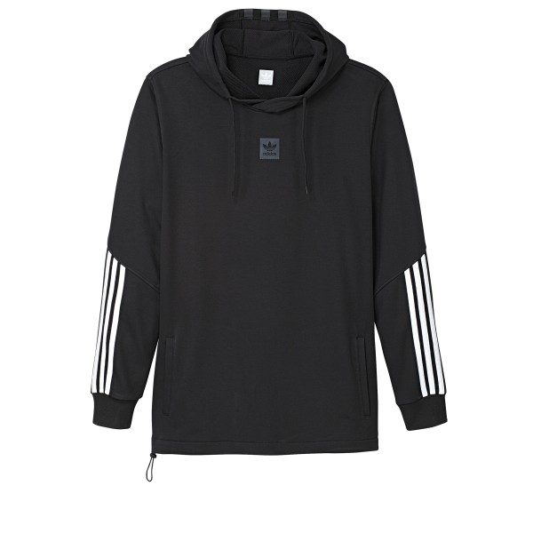 adidas Skateboarding Cornered Pullover Hooded Sweatshirt (Black/White/Black Reflective)