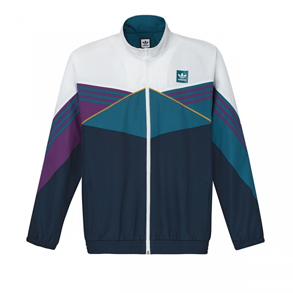 adidas Skateboarding Court Jacket (White/Collegiate Navy/Tribe Purple/Real Teal S18)