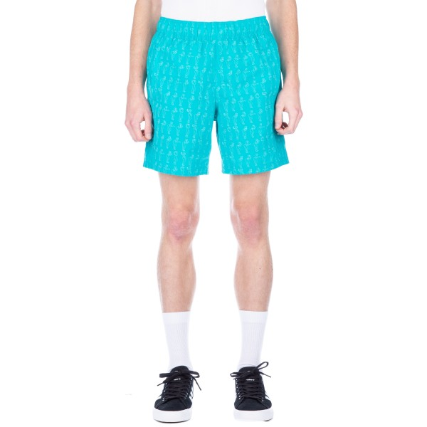adidas Skateboarding Resort Short (Blue/Shock Green)
