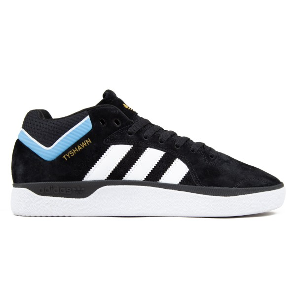 adidas Skateboarding Tyshawn (Core Black/Footwear White/Light Blue)