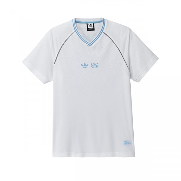 adidas Skateboarding x Krooked Jersey T-shirt (White/Clear Blue)