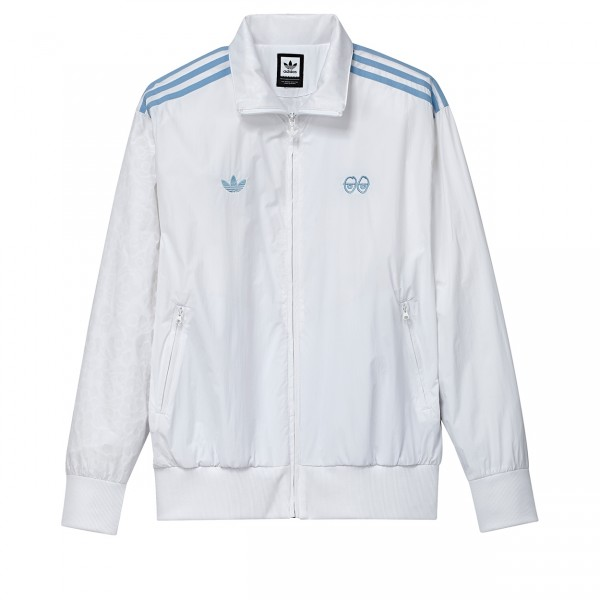 adidas Skateboarding x Krooked Track Jacket (White/Clear Blue)