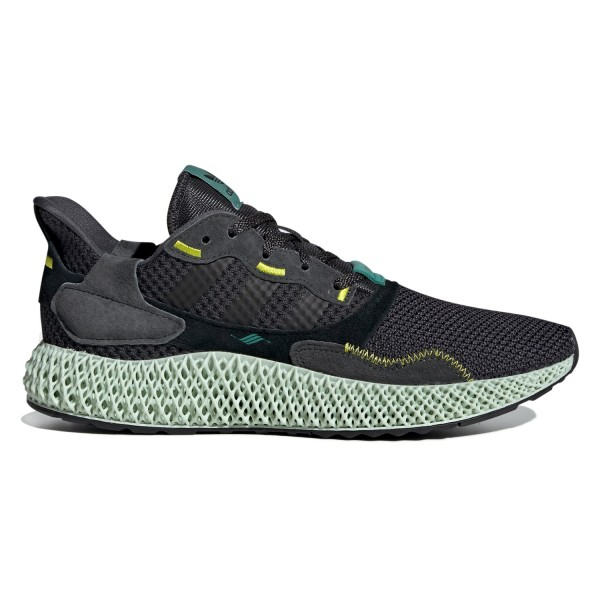 adidas ZX 4000 Futurecraft 4D 'Carbon' (Carbon/Carbon/Semi Solar Yellow)