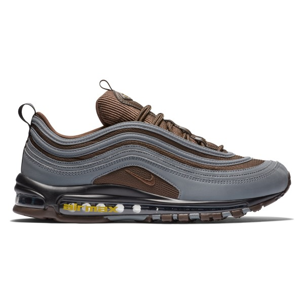 Nike Air Max 97 Premium 'Cool Grey' (Cool Grey/Baroque Brown-University Gold)