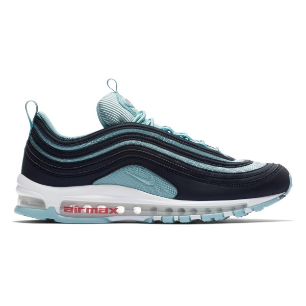 Nike Air Max 97 Premium 'Ocean Bliss' (Dark Obsidian/Ocean Bliss-University Red)