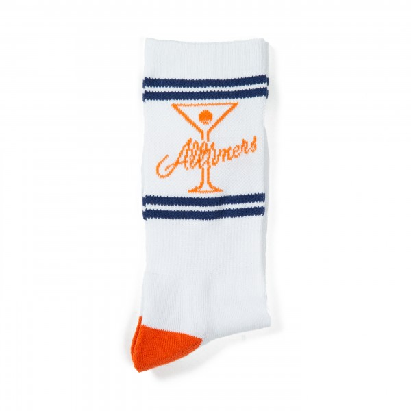 Alltimers League Player Socks (Orange/Navy/White)