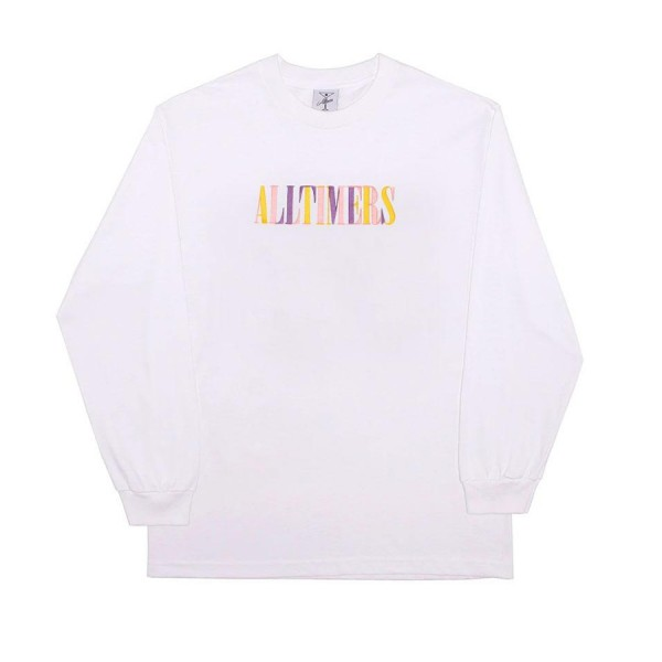 Alltimers Midtown Embroidered Long Sleeve T-Shirt (White)