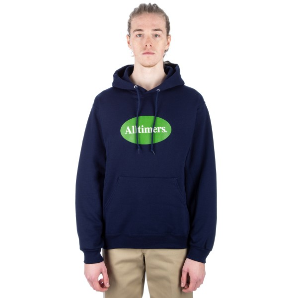 Alltimers Simple Pullover Hooded Sweatshirt (Blue)