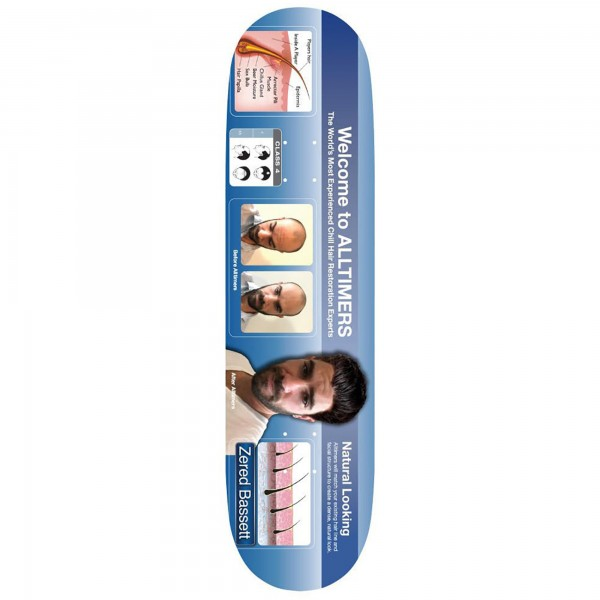 Alltimers Zered Bosley Skateboard Deck 8.3""