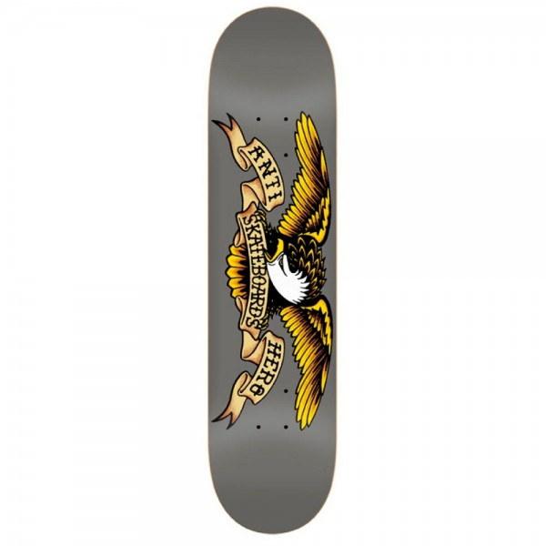 "Anti Hero Classic Eagle Larger Skateboard Deck 8.25"" (Grey)"