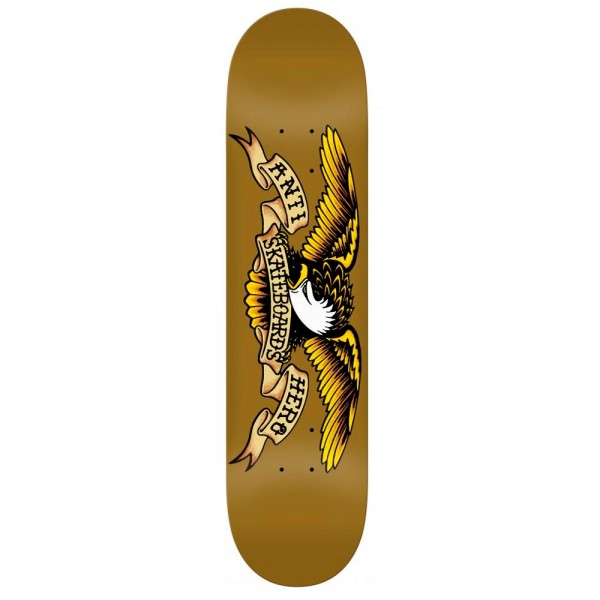 "Anti Hero Classic Eagle Skateboard Deck 8.06"" (Brown)"
