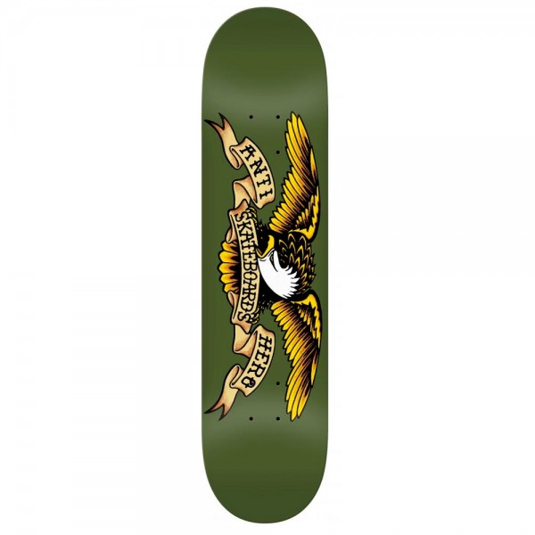 "Anti Hero Classic Eagle Skateboard Deck 8.38"" (Green)"