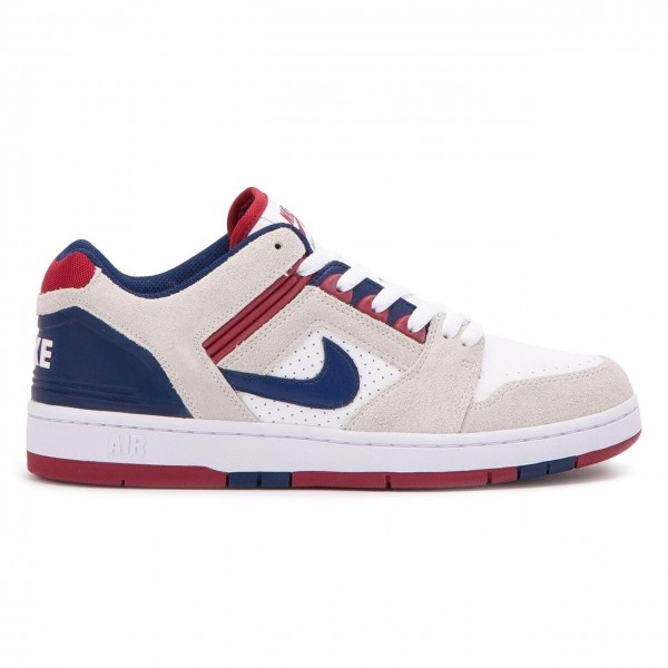 Nike SB Air Force II Low (White/Blue Void-Red Crush-White)