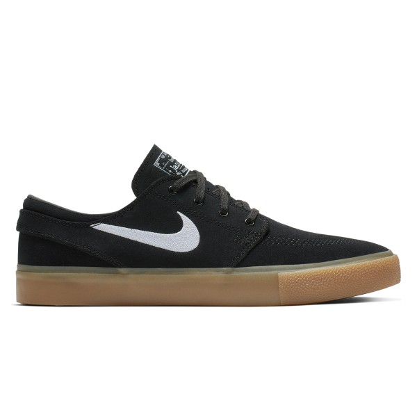 Nike SB Zoom Stefan Janoski RM (Black/White-Black-Gum Light Brown)