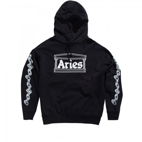 Aries 2 Chains Pullover Hooded Sweatshirt (Black)