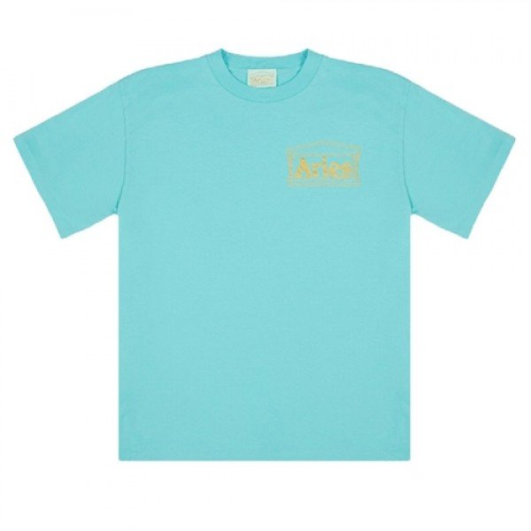 Aries Basic Temple T-Shirt (Aqua/Gold)