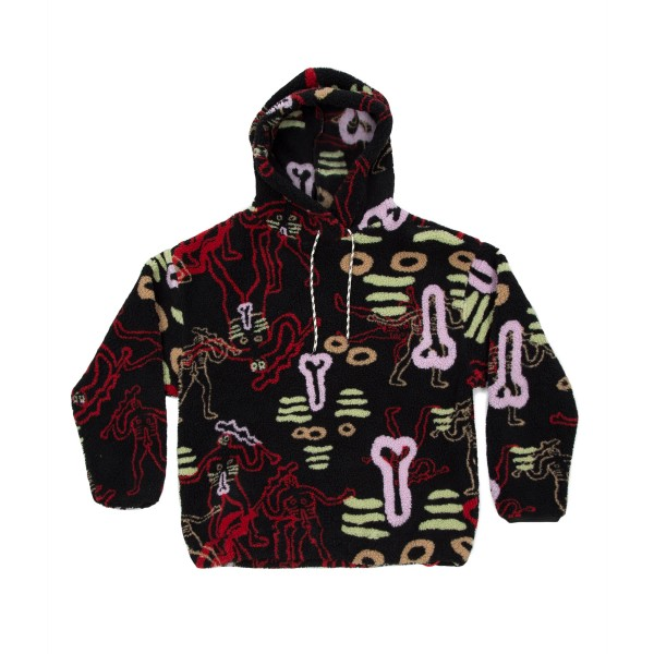 Aries Dude Pullover Hooded Fleece (Black)