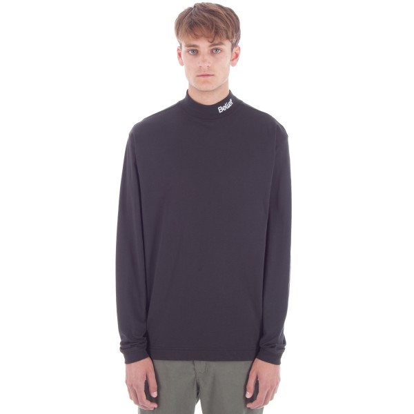 Belief Connect Mock Neck Long Sleeve T-Shirt (Black)