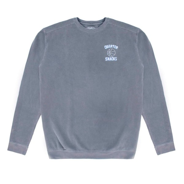 Quartersnacks Ball Is Life Crew Neck Sweatshirt (Washed Charcoal)