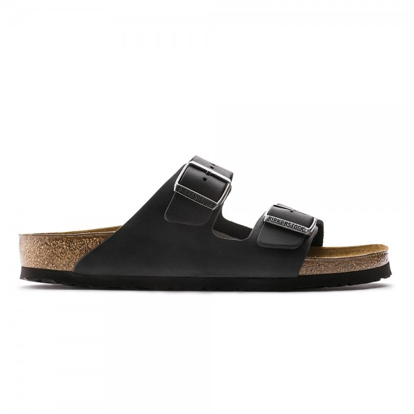 Birkenstock Arizona Narrow Fit (Black Oiled Leather)