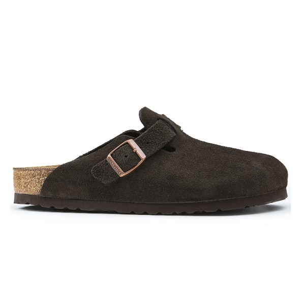 Birkenstock Boston Regular Fit (Mocha Suede)