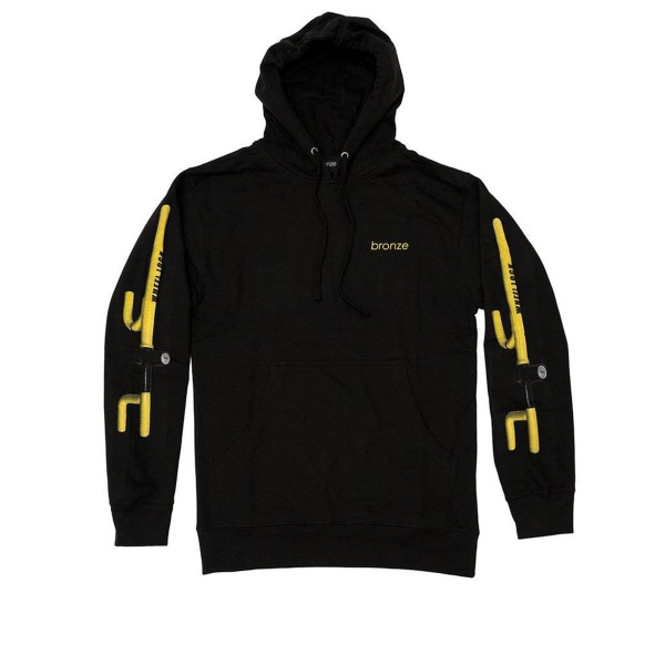 Bronze 56k The Club Pullover Hooded Sweatshirt (Black)