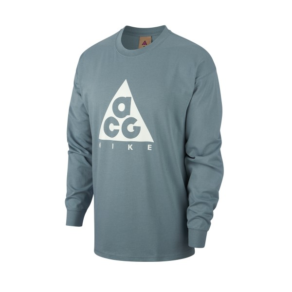Nike ACG NRG Logo Long Sleeve T-Shirt (Aviator Grey/Summit White)